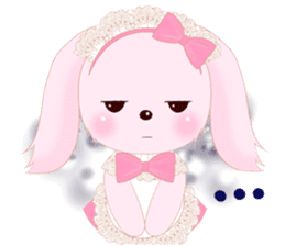 The maid of a pink rabbit.  ~English ver sticker #1283515