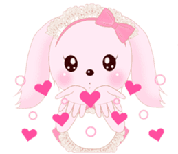 The maid of a pink rabbit.  ~English ver sticker #1283516