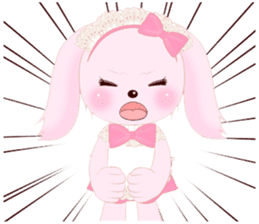 The maid of a pink rabbit.  ~English ver sticker #1283517