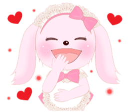 The maid of a pink rabbit.  ~English ver sticker #1283519