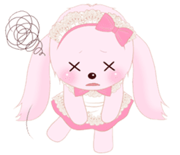The maid of a pink rabbit.  ~English ver sticker #1283524