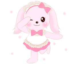 The maid of a pink rabbit.  ~English ver sticker #1283526