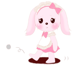 The maid of a pink rabbit.  ~English ver sticker #1283530