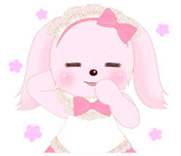 The maid of a pink rabbit.  ~English ver sticker #1283531