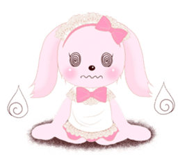 The maid of a pink rabbit.  ~English ver sticker #1283535