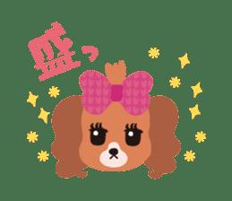 false eyelashes dog sticker #1285658
