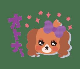 false eyelashes dog sticker #1285664
