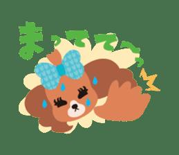 false eyelashes dog sticker #1285674