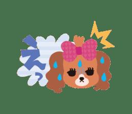 false eyelashes dog sticker #1285678