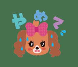 false eyelashes dog sticker #1285689