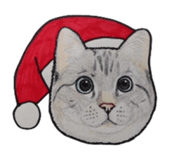 Merry Christmas Cat sticker sticker #1286942