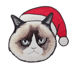 Merry Christmas Cat sticker sticker #1286945