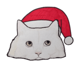 Merry Christmas Cat sticker sticker #1286952