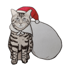 Merry Christmas Cat sticker sticker #1286953