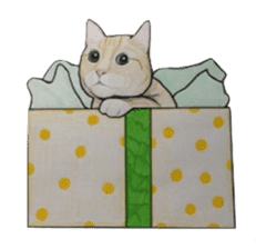 Merry Christmas Cat sticker sticker #1286955