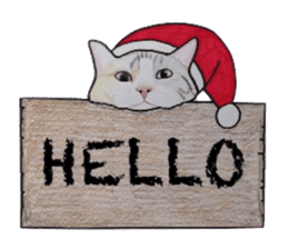 Merry Christmas Cat sticker sticker #1286958
