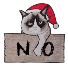 Merry Christmas Cat sticker sticker #1286961
