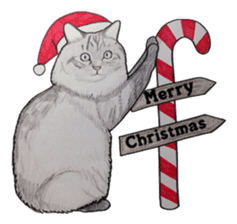 Merry Christmas Cat sticker sticker #1286968