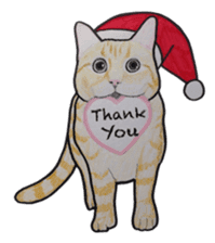 Merry Christmas Cat sticker sticker #1286970