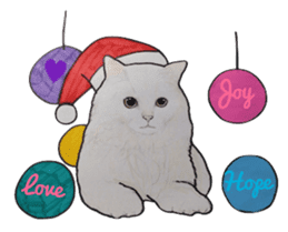 Merry Christmas Cat sticker sticker #1286971