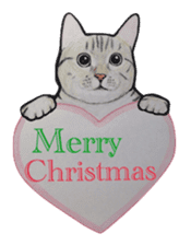 Merry Christmas Cat sticker sticker #1286974