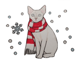 Merry Christmas Cat sticker sticker #1286975