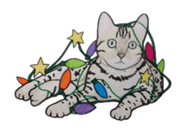 Merry Christmas Cat sticker sticker #1286976