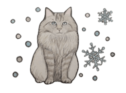 Merry Christmas Cat sticker sticker #1286977