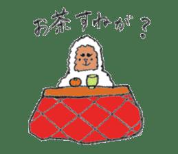 The Japanese Snowman sticker #1287512