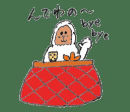 The Japanese Snowman sticker #1287537