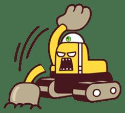 Heavy machinery friends sticker #1288543