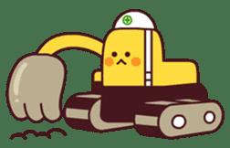 Heavy machinery friends sticker #1288547