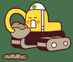 Heavy machinery friends sticker #1288557