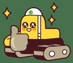 Heavy machinery friends sticker #1288558