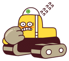 Heavy machinery friends sticker #1288574