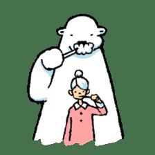 Jeemo the polar bear sticker #1290074