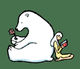 Jeemo the polar bear sticker #1290075