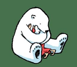 Jeemo the polar bear sticker #1290077