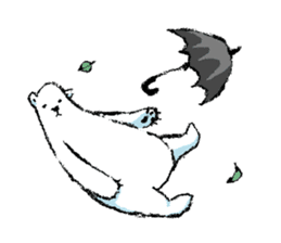 Jeemo the polar bear sticker #1290079