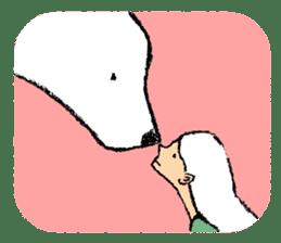 Jeemo the polar bear sticker #1290082