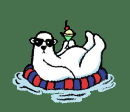 Jeemo the polar bear sticker #1290087