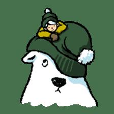 Jeemo the polar bear sticker #1290089