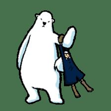 Jeemo the polar bear sticker #1290091
