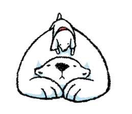 Jeemo the polar bear sticker #1290093