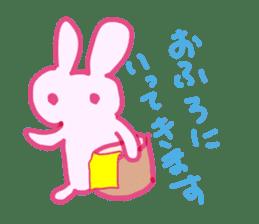 Pink little rabbit sticker #1290744