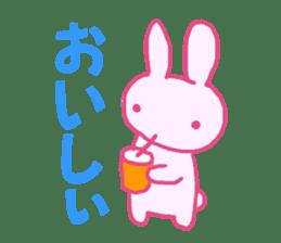Pink little rabbit sticker #1290746
