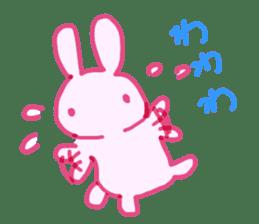 Pink little rabbit sticker #1290751