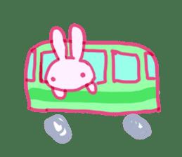 Pink little rabbit sticker #1290752