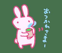 Pink little rabbit sticker #1290758