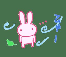 Pink little rabbit sticker #1290760